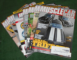 Muscle Car Review Magazine 7 Issues Jan July Aug Sep Oct Nov Dec 2016