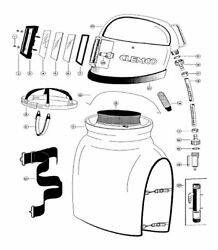 Spare parts for Apollo 100 supplied air respirator, sand blasting helmet