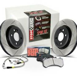StopTech Spt Kit Slot & Drill Front & Rear 348-336mm Brake Rotors for BMW 07-13