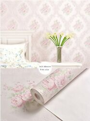 Damask Contact Paper Mural Roll Self Adhesive Embossed Wallpaper Vintage flower