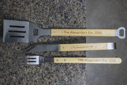 Personalized Bbq Set, Kitchen Decor, Personalized Bbq Grill Set, Engraved Barbec