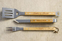 Personalized Bbq Set, Kitchen Decor, Couple Bbq Grill Set, Engraved Barbec