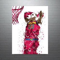 Lebron James Cleveland Cavaliers Dunk Poster Free Us Shipping
