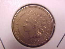 1859 Indian Head Cent - Almost 4 Dia - Au - See Pics - X2654