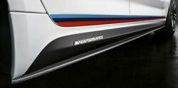 Bmw Oem G30 G31 F90 M5 M Performance Carbon Fiber Side Skirt Covers With Decals