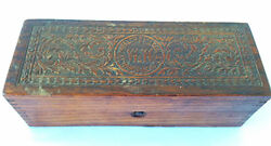 Antique Wheeler And Wilson Sewing Machines Ornate Wooden Box Advertising