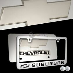 Chevrolet Suburban Mirror Stainless Steel License Plate Frame - 2pc Front And Back