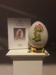 Goebel, 2018 Annual Egg, Motif-tulips, 41st Edition, Mint And Boxed