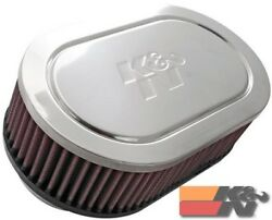 Kandn Special Order Air Filter For Dual 2-3/4flg Marine 2.5h 59-2900