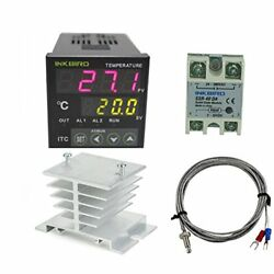 Outlet Digital PID Thermostat Temperature DA 40A Inkbird AC 100 220V ITC 100VH