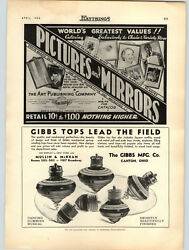 1936 Paper Ad Gibbs Toy Tops Canton Ohio Dancing Humming Musical