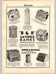 1936 Paper Ad Bandr Behrend And Rothschild Popeye Toy Bank Gem Dime Lucky Register