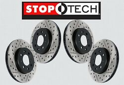 [FRONT + REAR SET] STOPTECH Sport Drilled Slotted Brake Disc Rotors STS57806
