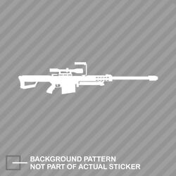 Barrett 50 Cal M82a1 Sticker Die Cut Decal Sniper Rifle