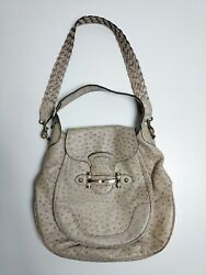 Gucci Ostrich Leather Shoulder Bag Made in Italy Women's Authentic Guccissima