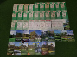 Collection Of Masters Spectator Guides 1970 To 2017, Augusta National - 48 Years