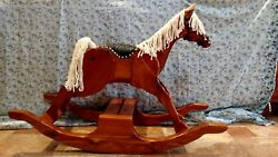 handcrafted Wooden Rocking Horse, Heirloom Quality Solid Wood Kids Toy,