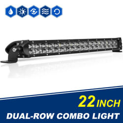 22inch 600w Dual Rows Ultra-thin Led Light Bar Spot Flood Combo Offroad Suv 4wd