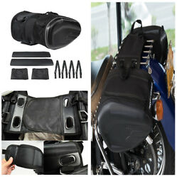Durable Motorcycle Saddle Bag Luggage Helmet Tank Bags WCover Carbon Fiber Look