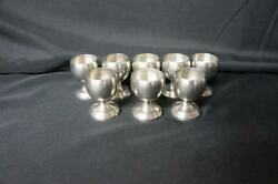 8 Nantucket Pewter Cordials Or Shot Glasses 2 1/2 Tall