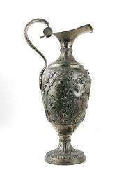 Antique 18th Century Large .800 Silver Ewer Pitcher 16.5 53 Oz Not Weighted