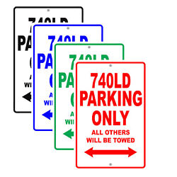 740ld Parking Only All Others Towed Man Cave Novelty Garage Aluminum Metal Sign