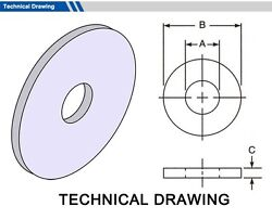 Gasket Outside Diameter 117mm, Thickness 3mm Select Inside Dia, Material, Pack