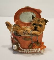 Country Artists 'Yorkshire Terrier in Jewellery Box' figurine 02257