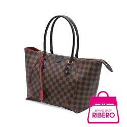 Auth LOUIS VUITTON  N 4 1548 Damier x Ebene Kaisa Women Damier canvas tote bag