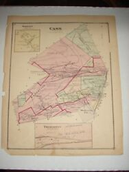 Original 1873 Map Of Cass Twp Fountain Valley View, Pa Schuylkill County, Pa