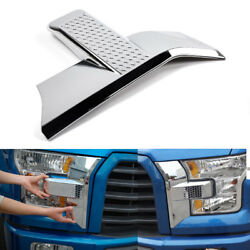 Front Bumper Headlightandgrille Chrome Cover Trim For 15-17 Ford F150 Accessories