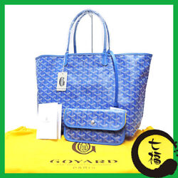 Auth GOYARD Saint Louis PM Women PVC coated canvasxleather tote bag