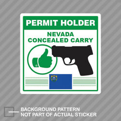 Nevada Concealed Carry Permit Holder Sticker Decal Vinyl 2a Permited V2