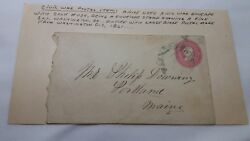 1861 Amos Downing Civil War Letter Envelope To Brother Philip Washington Dc 1861