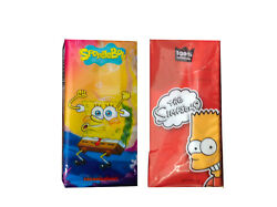 Spongebob And Simpsons 6/12 Pack Kids Back Pack Lunch Box Scented Pocket Tissues