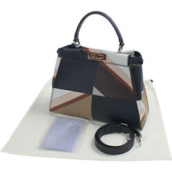 Auth FENDI Peekaboo 8 BN 290 - 5 CK Women calf tote bag