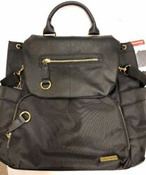 NEW! Skip Hop Chelsea Downtown Chic Diaper Backpack Black
