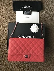 Chanel Flap Bag Caviar leather with box crossbody strap clutch SALE TODAY ONLY