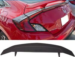 Fits Honda Civic Coupe 2 Door 2016+ Custom 2 Post Rear Spoiler Primer Finish