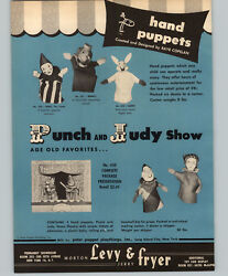 1950 Paper Ad 4 Pg Peter Puppet Marionettes Raye Copelan Punch And Judy Pinocchio