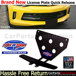STO N SHO For 16-18 Chevy Camaro 1LT 2LT RS 1SS 2SS License Plate Bracket SNS89