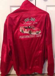 Bill Elliott And Dale Earnhardt Sr Autographed 1985 Red Snap On Racing Jacket Xl