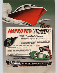 1947 Paper Ad 2 Sided Tri-state Toy Jet-queen Motor Speed Boat Paddle Steam Rive