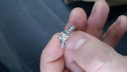 Princess Diamond Ring With 6 Melee. White Gold. Extremely Shiny Incredible Ring