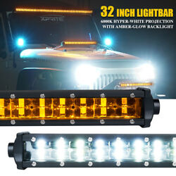 Xprite Sunrise Series 32 Double Row Led Work Light Bar With Amber Backlight Atv