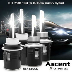 Combo H11 9005 HB3 LED Headlight Buls Kits For Toyota Highlander 2014-2011 Light