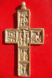 Russian Antique Rare Beautifully Detailed Bronze Large Holy Cross Crucifix