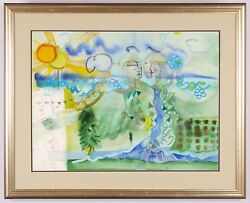Andrea Smith The Cycles Of Nature, Signed, Original Watercolor, Framed
