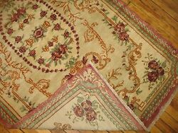 Antique Floral Turkish Oushak Ushak Ghiordes Rug Size 3and0399and039and039x6and0392and039and039