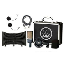 AKG C214 Recording Condenser Mic w AxcessAbles Mic Shield Cable